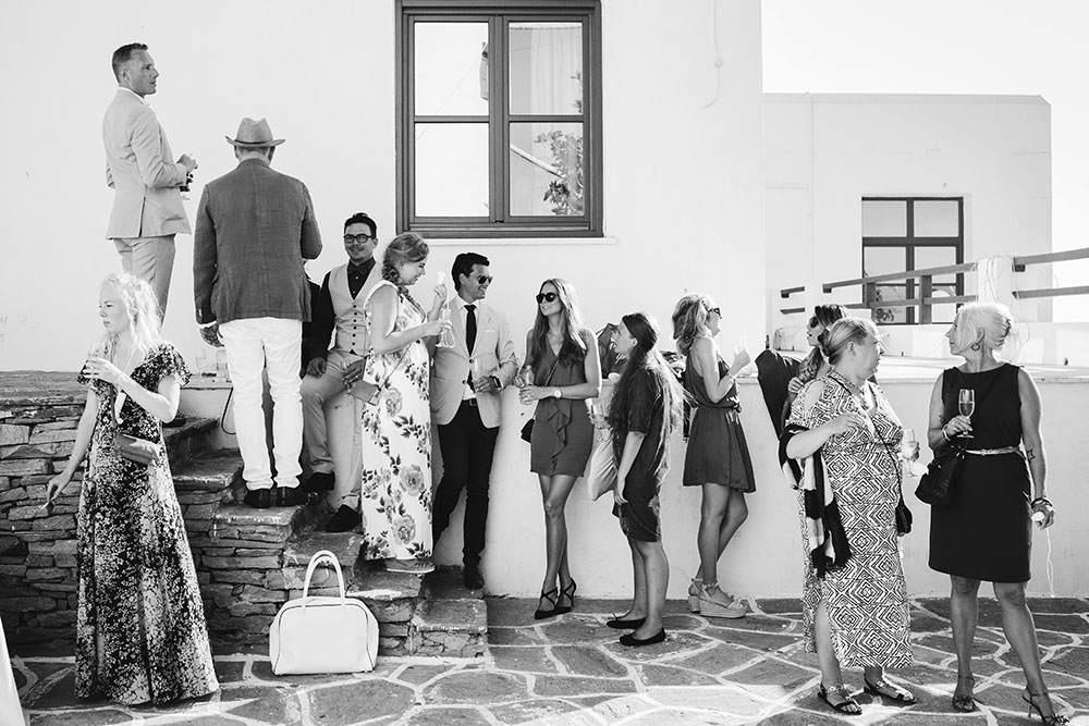 Swedish Symbolic Wedding Ceremony in Paros Greece