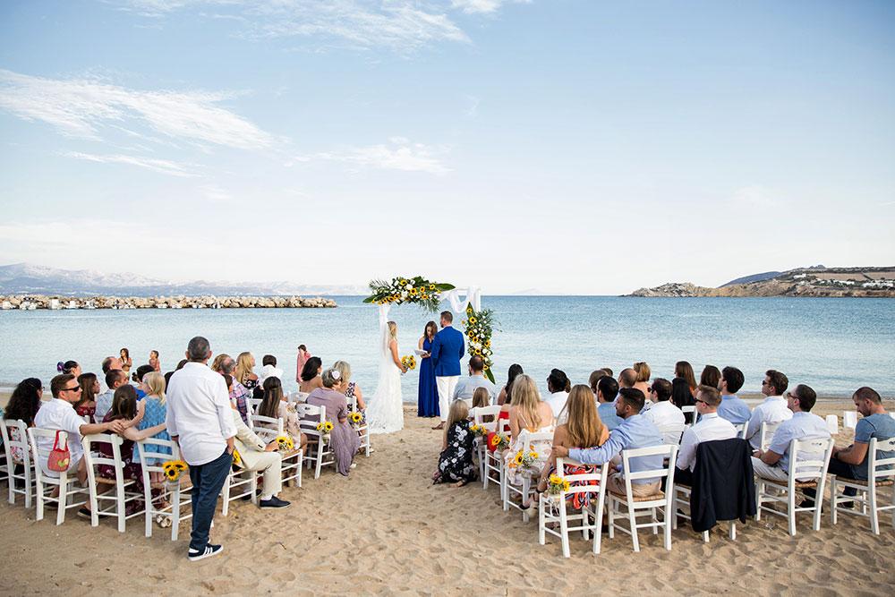 Beach Wedding in Paros