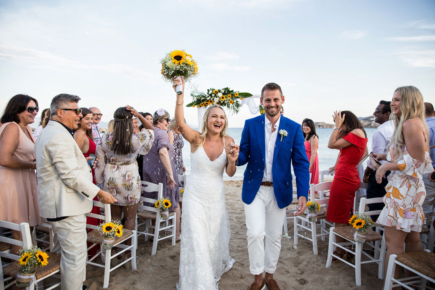 Beach Wedding in Paros